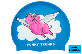 Bonnet natation piscine silicone funky trunks flying pig