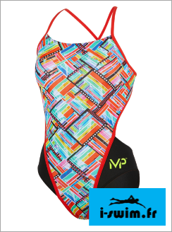 Maillot de bain femme mp michael phelps subway open back