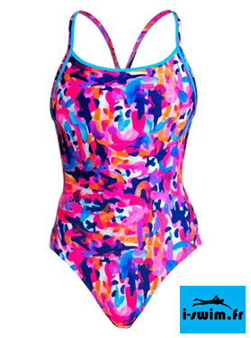 Maillot de bain natation femme funkita party army