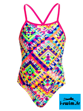 Maillot de bain natation fille funkita white diamond
