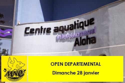 Open departemental natation montelimar 280118