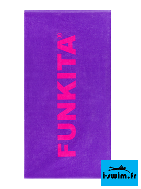 Serviette de bain piscine funkita still purple