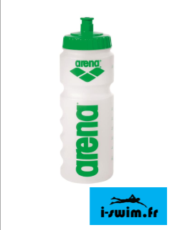 Arena water bottle clear green gourde