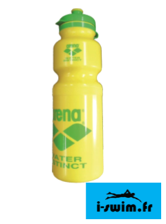 Arena water bottle yellow gourde