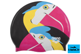 Bonnet bain natation silicone junior arena papagaio