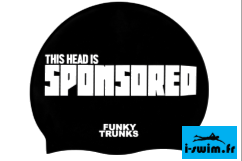 Bonnet de bain natation silicone funky trunks sponsored head