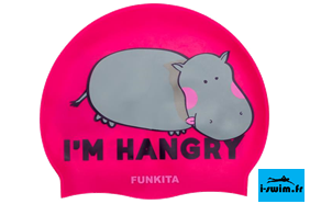 Bonnet natation silicone funkita hangry hippo