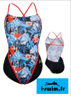 Maillot de bain femme mp michael phelps flower open back2
