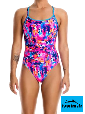 Maillot de bain natation femme funkita party army1