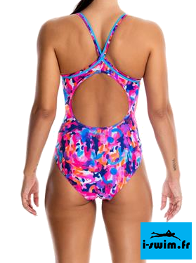Maillot de bain natation femme funkita party army2