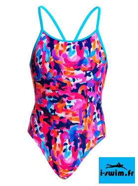 Maillot de bain natation fille funkita party army
