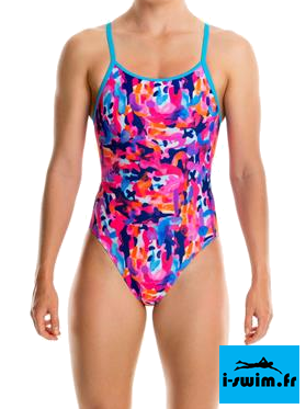 Maillot de bain natation fille funkita party army1