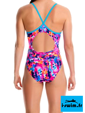 Maillot de bain natation fille funkita party army2