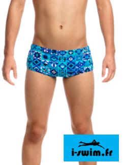 Maillot de bain natation funky trunks printed strike it lucky1
