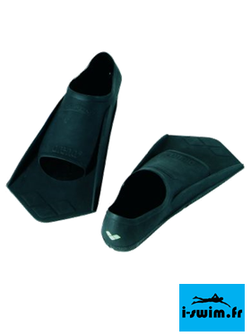 Palmes entrainement natation arena powerfin black silver
