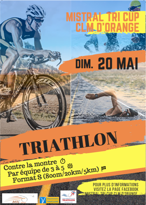 Triathlon contre la montre orange 20 mai